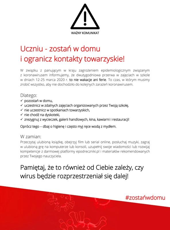 news: Komunikatdlauczniow.jpg